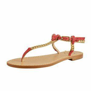 """Emanuela Caruso """"Capri"""" Womens Golden Flat Sandals"""